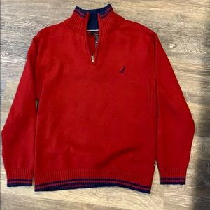 Red Nautica sweater size 10/12. Christmas!